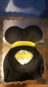 Batman Baby Belly Cake