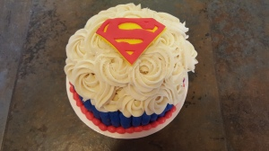 Superman Smash Cake 6