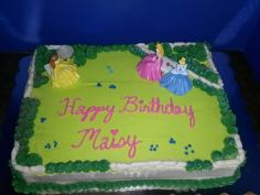 Princess Garden designed special for your little princess. This cake is frosted in buttercream.